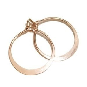"""14K Rose Gold Classic 3/4"""" Hoops"""